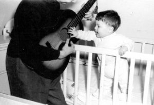 Me and Dad, at an early point in my career. Even then, I wanted to get my hands on a vintage Martin!